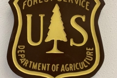 Forestry Service sign
